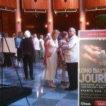 "Lobby of the Newmark Theatre for opening of ""Long Day's"""