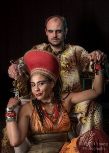 Andrew White & Matt DiBiasio as Antony & Cleopatra. Photo: Russell J Young