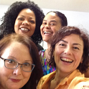 Dmae with S. Renee Mitchell, Damaris Webb & Laura Lo Forti