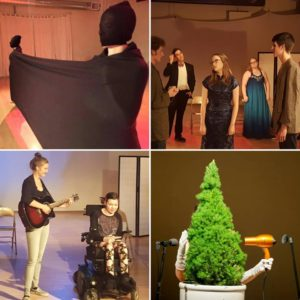 L-R: Row 1: Curiousity Crossings (Emily Lau and collaborators), From the Ground Up (High School Youth Theatre); Row 2: From the Ground Up, Third Angle New Music Studio Series – Going Dutch.