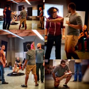 "Rehearsal photos from ""An Octoroon"""